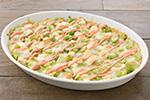 安国屋豆腐とそら豆のグラタン~明太子ソース