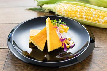 川越産トウモロコシのベイクドチーズケーキ
