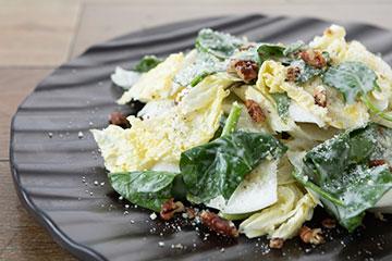 川越産ホウレン草と白菜のシーザーサラダ