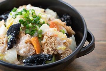たっぷり川越産野菜の海鮮餡かけおこげ
