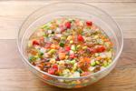 川越産〈彩り野菜〉とトマトゼリーのカクテルサラダ