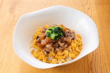 川越産ダイコン&小松菜でつくるルーローハン